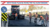 Tuzla Belediyesi, 2014 Yılında 40 Bin 700 Ton Asfalt Döktü