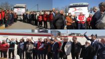 Tuzla Kızılay, Afrin'e Yardım Tırı Gönderdi