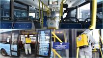 Tuzla Belediyesi Toplu Taşıma Araçları ve Durakları Dezenfekte Ediyor