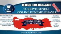 Kale Okulları'ndan Türkiye Geneli Online Deneme Sınavı
