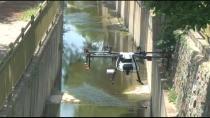 Tuzla'da Zorlu Bölgelerdeki İlaçlama Drone İle Yapıldı